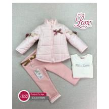 Комплект для девочек розового цвета Вероника (куртка, джинсы и джемпер)