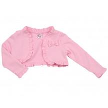 Болеро розовое для малышек с длинным рукавом