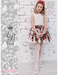 """Колготки нарядные белого цвета для девочек """"LESI"""""""