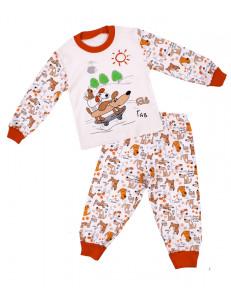 """Пижама детская с длинным рукавом """"веселые собачки"""""""