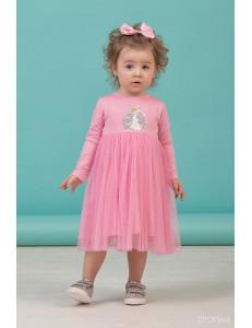 """Платье для девочек с длинным рукавом светло-розового цвета """"Spring"""""""